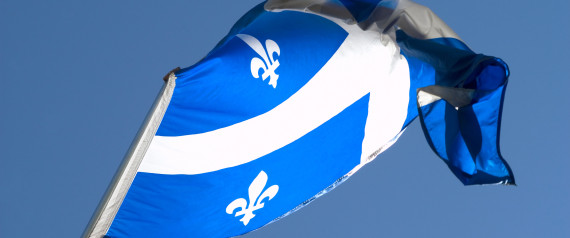Flag of Quebec, canada