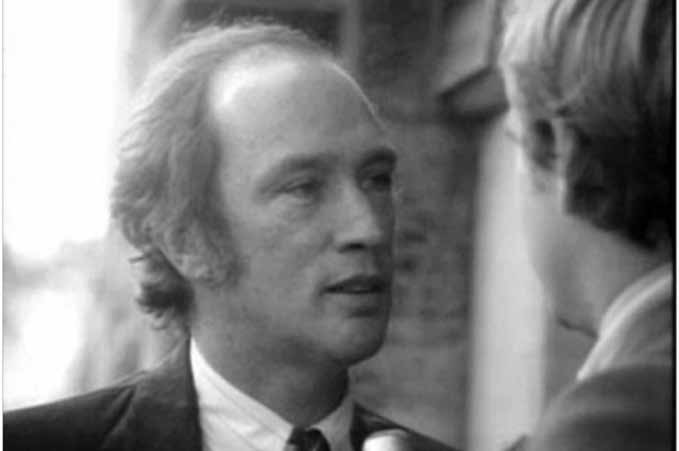 Pierre Elliot Trudeau prononçant son célèbre « Well, just watch me » du 13 octobre 1970.