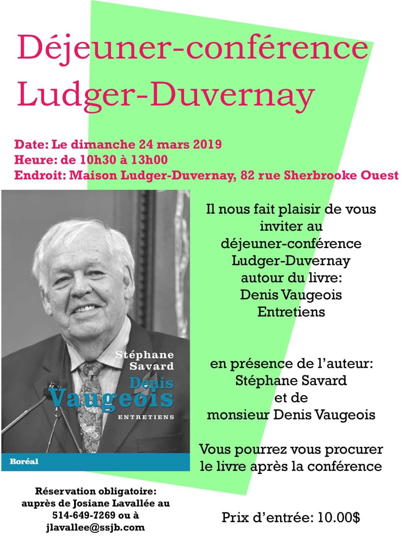 Déjeuner-conférence Stéphane Savard